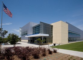 Exterior shot of the Advanced Water Quality Assurance Laboratory