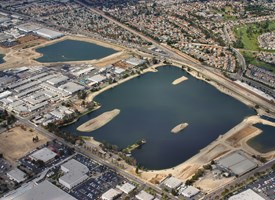 Aerial view of OCWD's Anaheim recharge basins