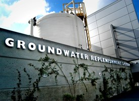 Exterior of the Groundwater Replenishment System in Fountain Valley, Calif.