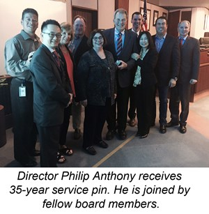 Director Anthony Receives Service Pin