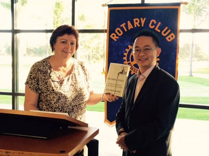 Director Roger Yoh and BP Rotary President