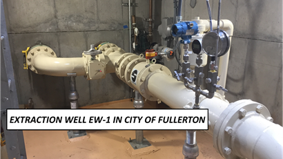 Extraction well EW-1 in Fullerton
