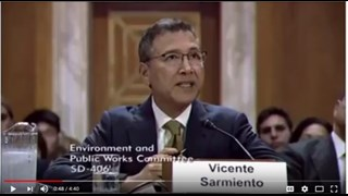 OCWD Director Vicente Sarmiento testifies before the Senate Environment & Public Works Committee