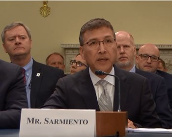 President Sarmiento testifying before House Subcommittee